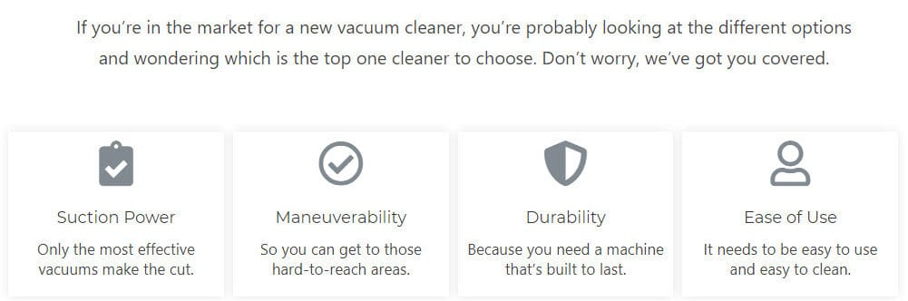 Features Vac